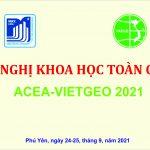 Thông báo số 1 Hội nghị khoa học toàn quốc ACEA-VIETGEO 2021